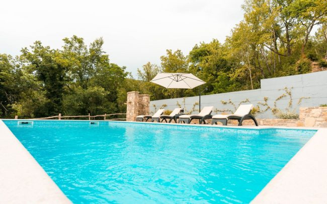 villa istria swimming pool