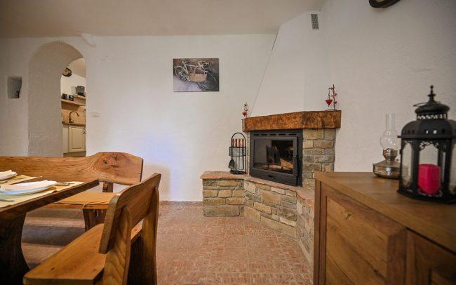 villa fireplace